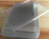 25 Crystal Clear Boxes - A2 Greeting Card Holder - Plastic Packaging