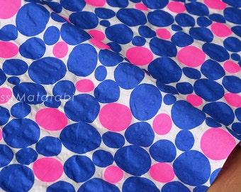 Japanese Fabric Seersucker Lawn - neon bubbles - B - 50cm