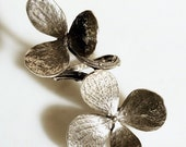 Double flower on a branch adjustable ring is solid sterling silver hand made by zulasurfing