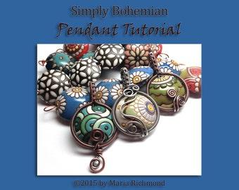 Simply Bohemian Wirewrapped Pendant Tutorial