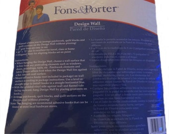 """Quiltsy Destash Party - New Fons & Porter Design Wall 60""""x72"""""""