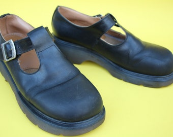 VINTAGE black leather Mary Jane DOC Martens