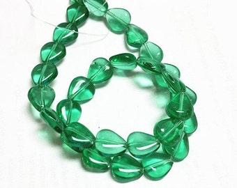 1 Strand 30pcs 12x11mm heart shape glass beads-8629