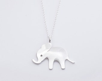 beehive elephant necklace - sterling silver