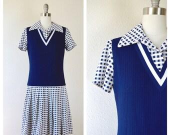 back to school mod dress / checkered dress /