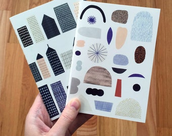 Pocket Notebook 2-pack City and Paper Shapes