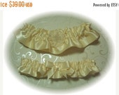 SALE 10% OFF Ivory Satin Garter Set RB 118