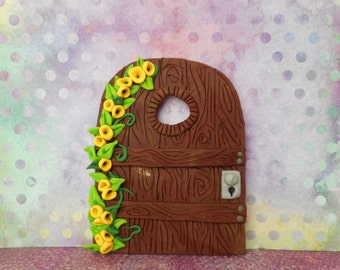 Fairy Door, Faerie Door, Prototype,  Polymer Clay, Fantasy, Fun, Handmade