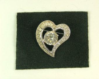 Weiss Marked Heart shaped Brooch
