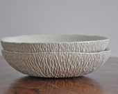 DISCOUNTED - Large Geode Serving Bowl - White Ceramic Platter Porcelain Fruit Bowl