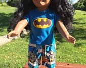 18 inch boy doll clothes fun BATMAN theme lounge or play set for your special doll