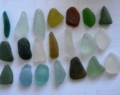 21 pieces of smooth beach sea glass sgl26