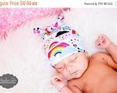 SPRING SUPER SALE RockerByeBeanies Emo Skull Rainbow Clouds Hearts Newborn Baby knit skull cap hat beanie boy or girl