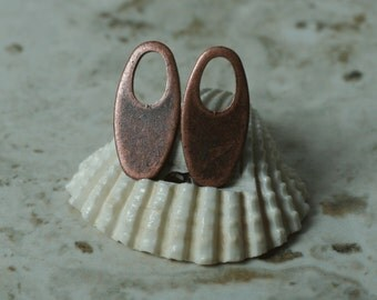 Antique copper oval dangle drop size 18x9mm, 10 pcs (item ID YWXW00324ACD)