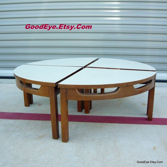 Etsy Round Coffee Tables: Items Similar To Vintage Fab Round SLICED Coffee Table