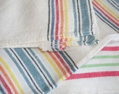 vintage old linen dish towels