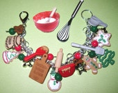 Holiday Baking Charm Bracelet Christmas Jewelry Gingerbread Man Cookies Sweet Treats OOAK Eclectic Original  Loaded Beads Charms & Trinkets