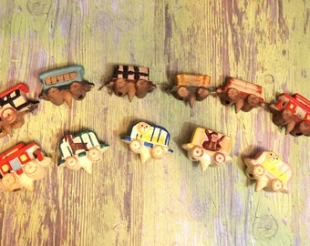 Free Shipping Vintage Ceramic Menschik Goldman and No Japan  Birthday Candle CIRCUS Train cake decoration as-is