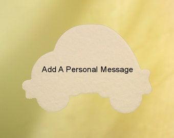 Personalized Car Air Freshener, Add Your Own Message, Name, Text, Slogan