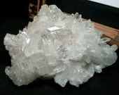 Brilliant Arkansas Rock Crystal Cluster with Vortex Charging Plate Record Keepers Rainbows