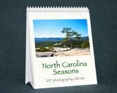 NC Seasons 2017 Calendar - North Carolina Nature Photography, Spiral Bound Desk Calendar