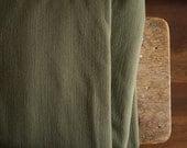 MERINO WOOL FABRIC / olive / new zealand  / australia / wool remnant