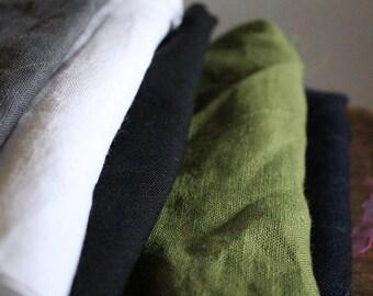 LINEN + WOOL fabric / remnants