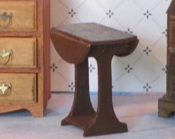 Miniature drop leaf table wood
