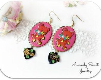 Retro Bear Earrings