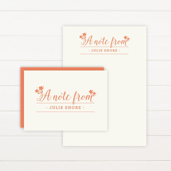 DELIGHT Personalized Stationery + Notepad Set, Personalized Notepad and Personalized Stationary