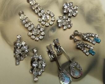 Vintage Earrings Lot Destash Supply Five Pair