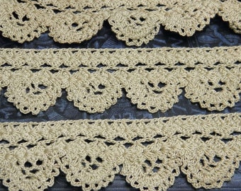 Vintage Hand Crocheted Lace Trim
