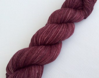Red Red Wine -  hand dyed yarn 3.5 oz 437 yds