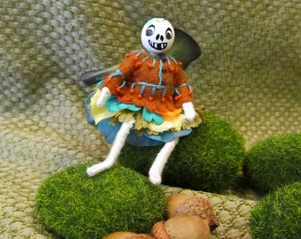 Miniature Day of the Dead Halloween Fairy Doll