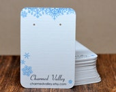 Christmas Winter Snowflakes Earring Display Cards - Customized - Personalized -  Jewelry Display - Branding - Price Tags
