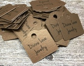 """240 Custom Tags - 1"""" Personalized with Logo Text - Jewelry Tags - Price Tags - Hang Tags"""