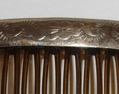 Pair of Vintage Native Southwest Sterling Hair Combs