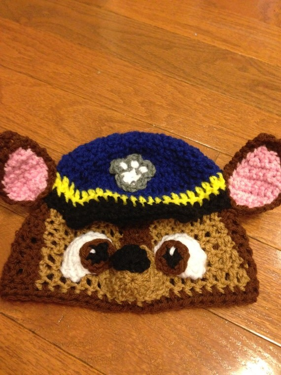 Knitting Pattern Paw Patrol : Items similar to Paw Patrol Chase Beanie Paw Patrol Beanie Paw Patrol Costume...