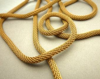 3 FT Brass Mesh Snake Chain Tube - 4 mm Thick
