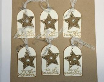 Tag - Gift Tag - Christmas Gift Tags - 'Tis the Season Gift Tags set if 6
