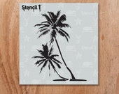 """Palm Trees Stencil- Reusable Craft & DIY Stencils- S1_01_21_S -Small-(5.75""""x6"""")- By Stencil1"""