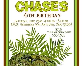 Dinosaur Birthday Invitations, T Rex,tyrannosaurus rex, Invites,Birthday Invitations, Dinosaur, Prehistoric, Jurassic, Kids Birthday party