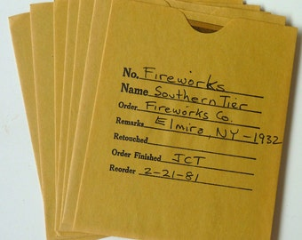 7 negatives for photographs firework manufacturers advertising postal covers envelopes and catalog 1800s