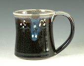 Large pottery Mug (20oz) in tenmoku black glaze - great morning coffee mugs fathers day gift