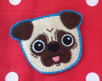 Pug sew-on patch