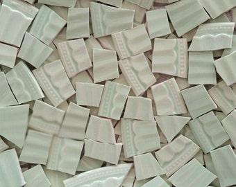 Mosaic Tiles- Sage Scallop--55 pieces