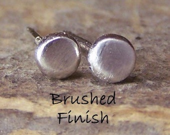 Recycled Tiny Sterling Studs Earrings - minimalist earrings , gift for her