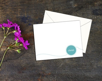 Connect the Dots Personalized Notecards