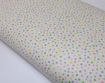Kiddy Flannel Baby Girl Boy Cream Dots  Quilting Sewing Fabric Quilters Davids Textiles Flannel Sewing Fabrics
