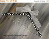 SALE 20% OFF Wedding Dress Hangers Zebra Stripes Wood Hangers Wedding Photo Props